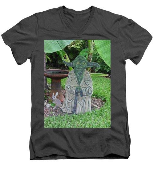 Hanging Out In The Garden Men's V-Neck T-Shirt