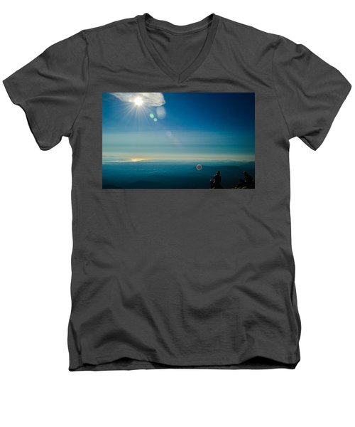 Hanging Out On The Summit Men's V-Neck T-Shirt