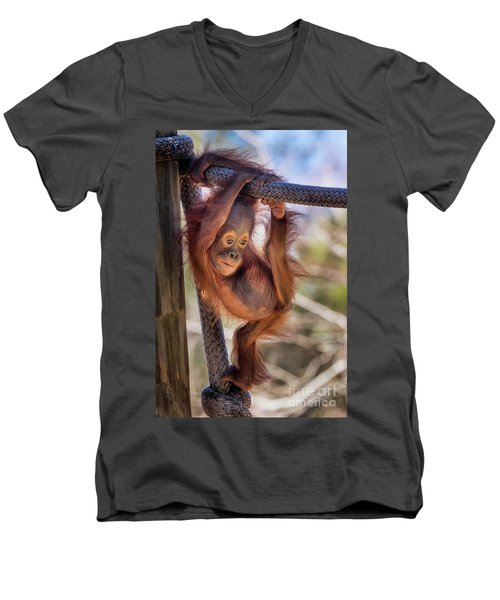 Hanging Out Men's V-Neck T-Shirt by Stephanie Hayes