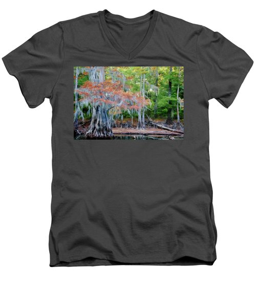 Hanging Rust Men's V-Neck T-Shirt by Lana Trussell
