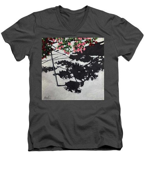 Hanging Shadows - Floral Men's V-Neck T-Shirt