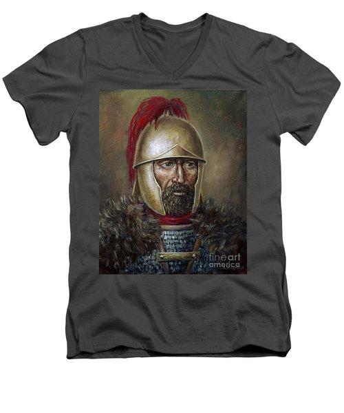 Hannibal Barca Men's V-Neck T-Shirt by Arturas Slapsys