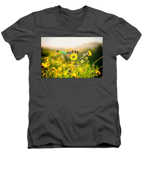 Happiness Men's V-Neck T-Shirt by Joseph S Giacalone