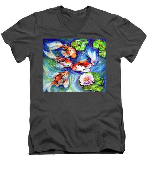 Happiness Koi Men's V-Neck T-Shirt