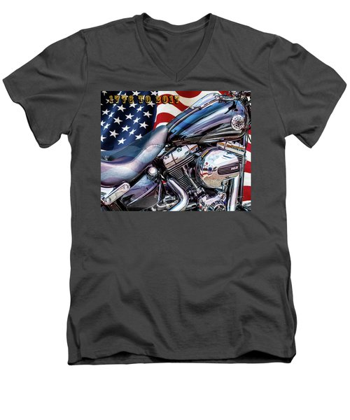 Happy Birthday America Men's V-Neck T-Shirt