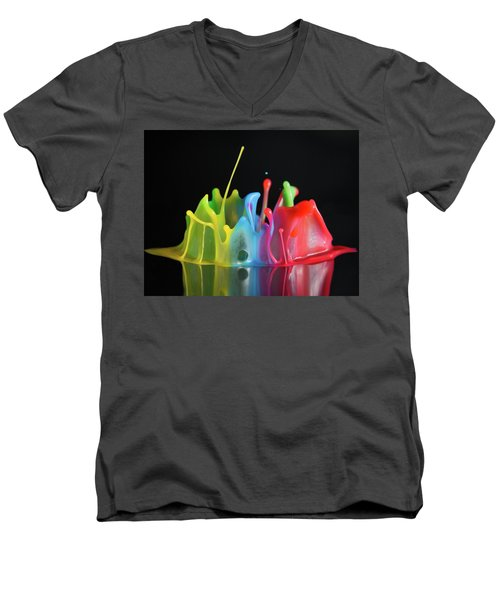 Men's V-Neck T-Shirt featuring the photograph Happy Birthday by William Lee