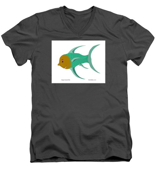 Happy Carnival Fish Men's V-Neck T-Shirt