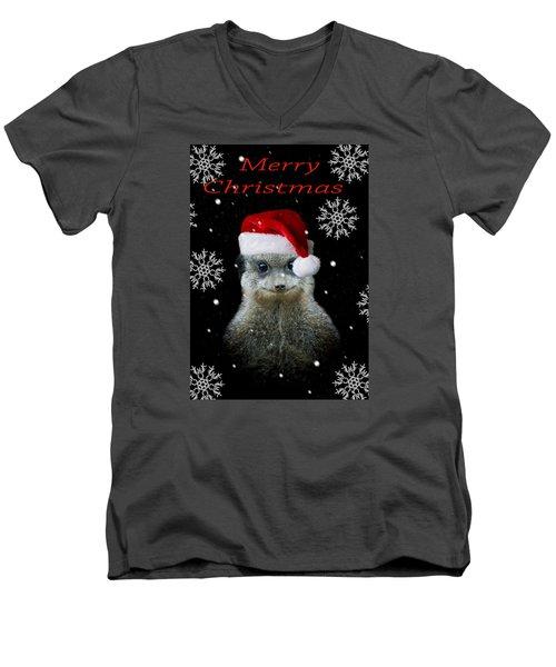 Happy Christmas Men's V-Neck T-Shirt by Paul Neville