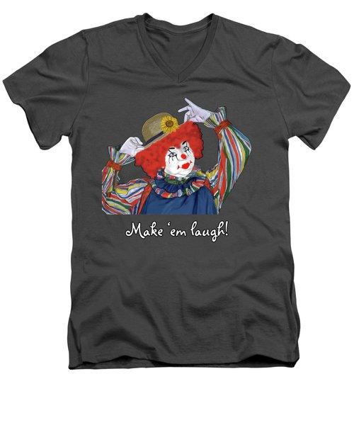 Happy Clown Men's V-Neck T-Shirt