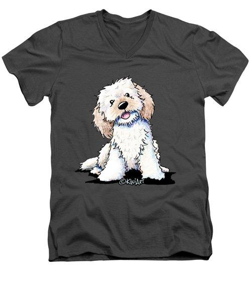 Happy Doodle Puppy Men's V-Neck T-Shirt