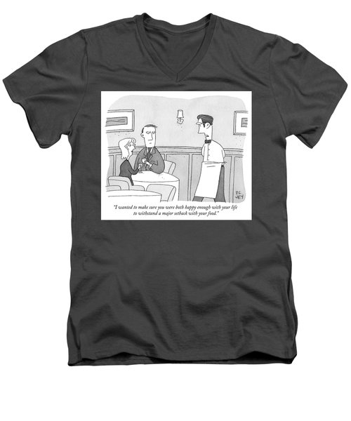 Happy Enough Men's V-Neck T-Shirt