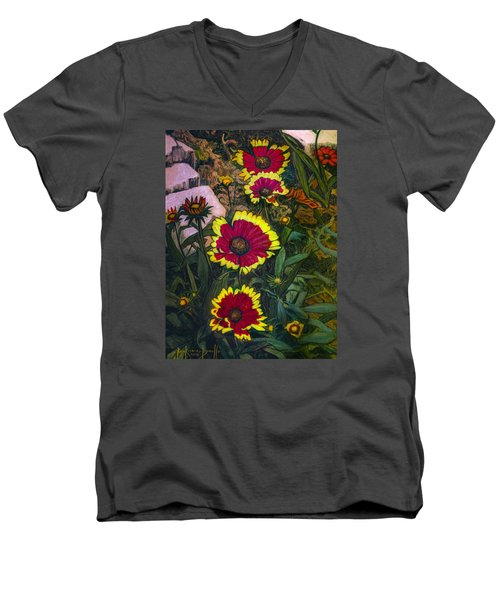 Happy Faces Men's V-Neck T-Shirt by Ron Richard Baviello