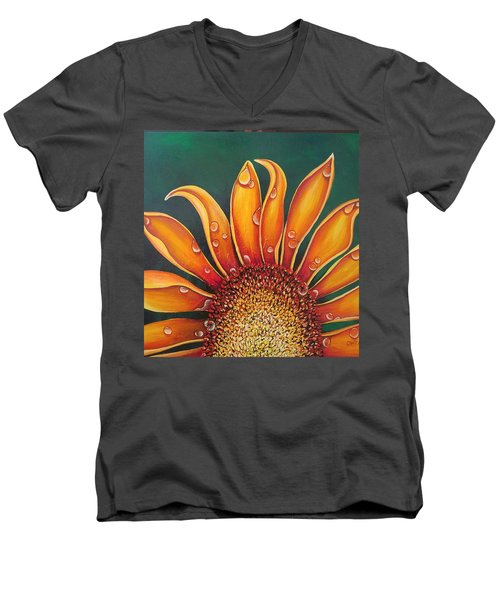 Happy Flower Men's V-Neck T-Shirt