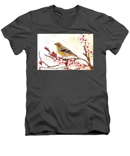 Happy Goldfinch Men's V-Neck T-Shirt