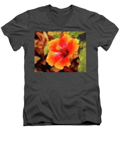 Happy Hibiscus Men's V-Neck T-Shirt