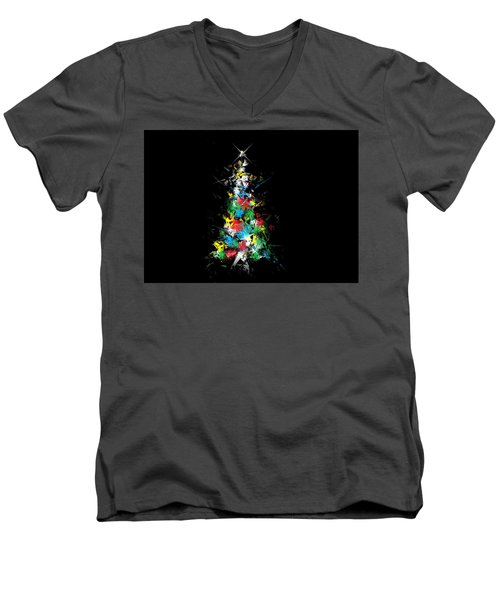 Happy Holidays - Abstract Tree - Horizontal Men's V-Neck T-Shirt