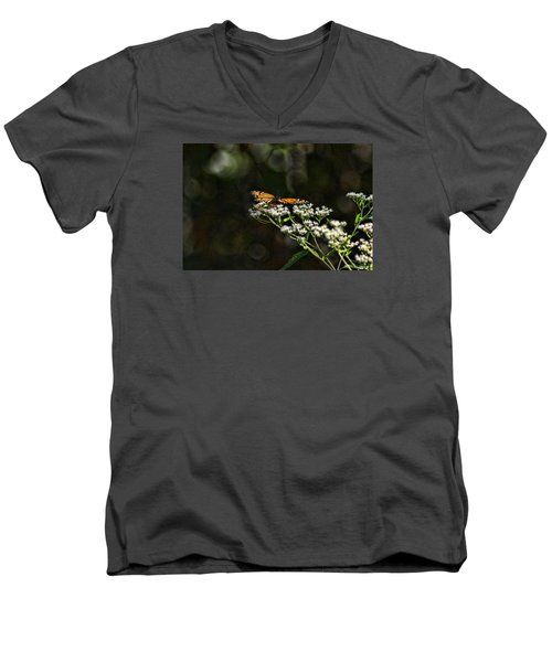 Happy Monarch Men's V-Neck T-Shirt by Rick Friedle
