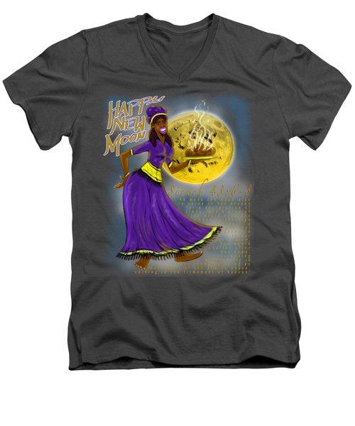 Happy New Moon Sirach 43 Men's V-Neck T-Shirt