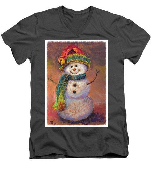 Happy Snowman Men's V-Neck T-Shirt