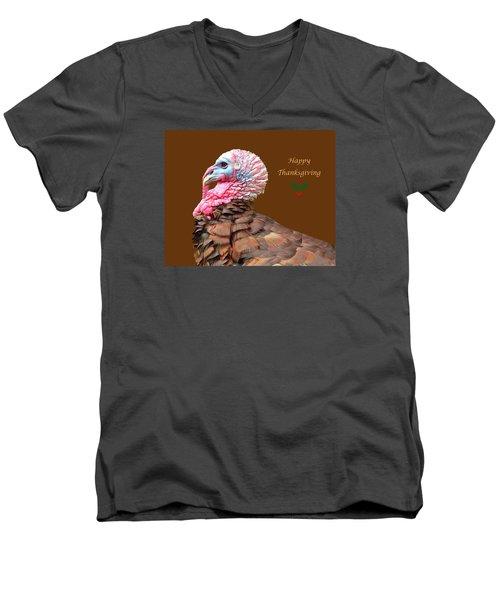 Happy Thanksgiving Men's V-Neck T-Shirt by Marion Johnson