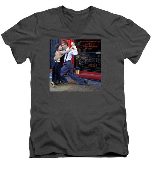 Happy Valentine's Day Men's V-Neck T-Shirt by Venetia Featherstone-Witty