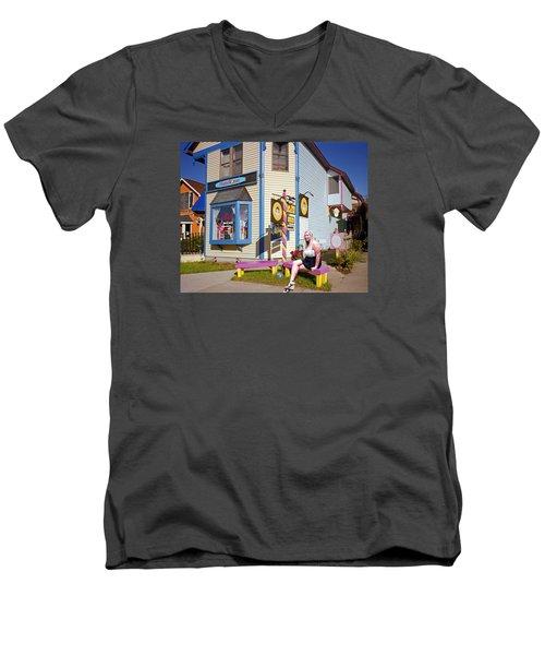 Happy Woman Men's V-Neck T-Shirt