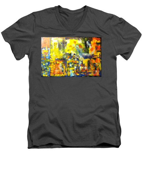 Happyness And Freedom Men's V-Neck T-Shirt