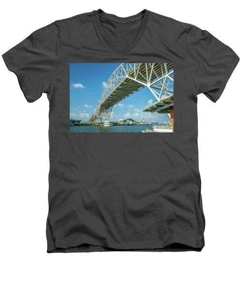 Harbor Bridge Men's V-Neck T-Shirt