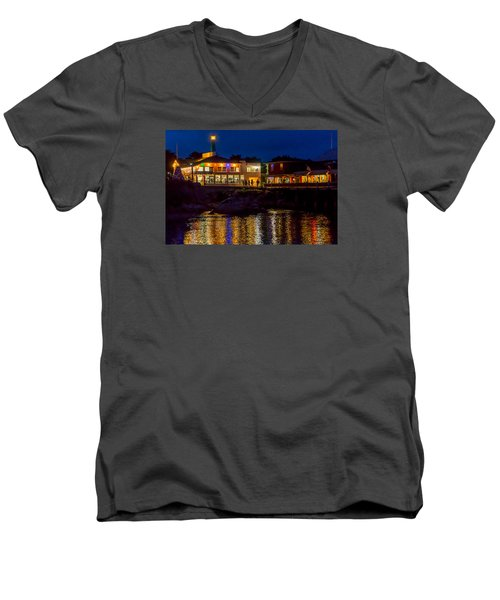 Harbor House Men's V-Neck T-Shirt by Derek Dean