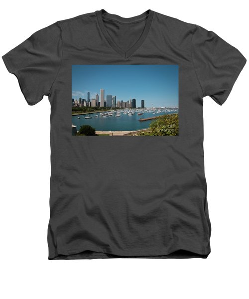 Harbor Parking In Chicago Men's V-Neck T-Shirt