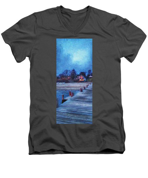 Harbormasters Office Owen Park Men's V-Neck T-Shirt
