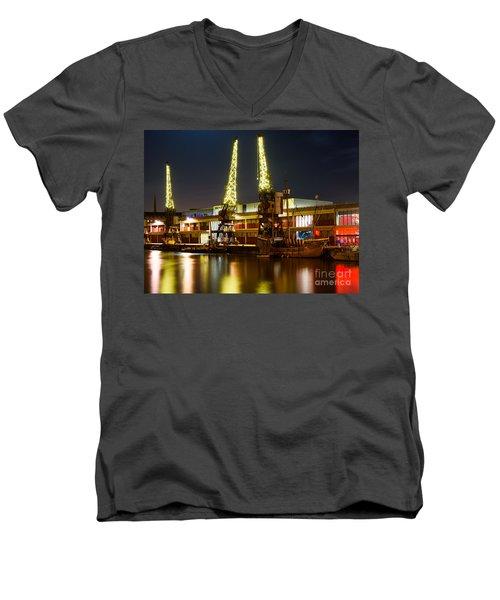 Harbour Cranes Men's V-Neck T-Shirt