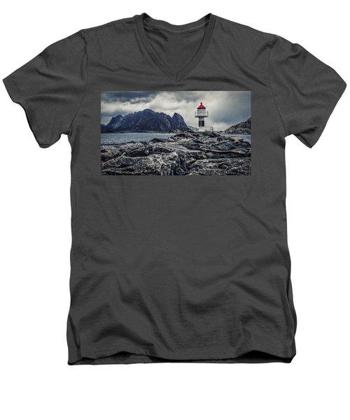Harbour Lighthouse Men's V-Neck T-Shirt