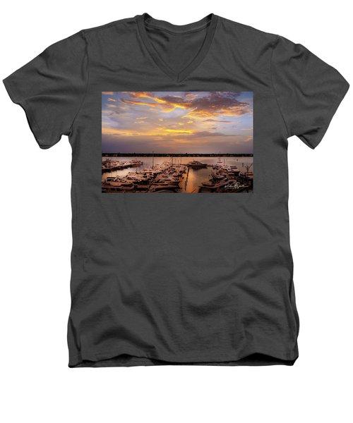 Harbour Sunsent Men's V-Neck T-Shirt