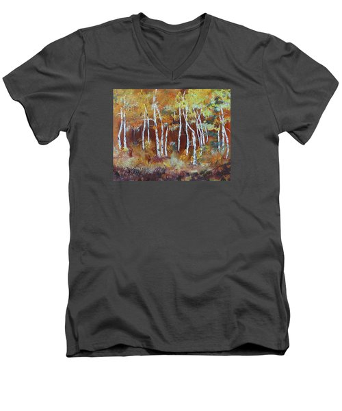 Harding Way  Aspens Dancing Men's V-Neck T-Shirt