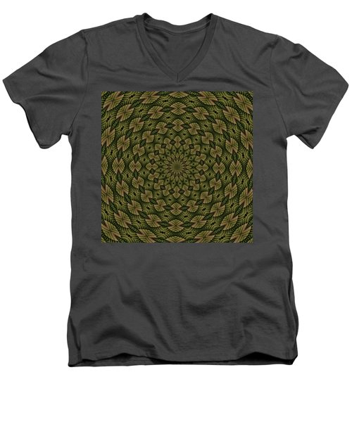 Hardwood Mandala Tile- Earthen Men's V-Neck T-Shirt