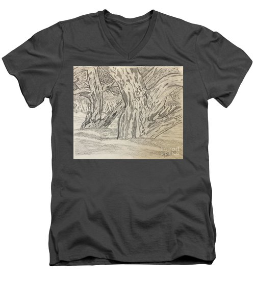 Hardwoods Men's V-Neck T-Shirt
