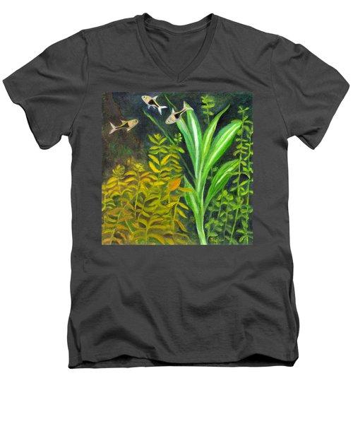 Harlequin Rasboras Men's V-Neck T-Shirt