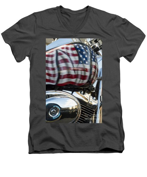 Harley Davidson 7 Men's V-Neck T-Shirt by Wendy Wilton