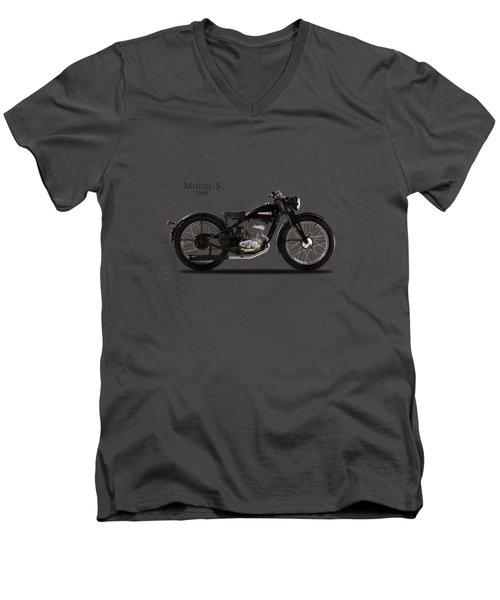 Harley-davidson Model S Men's V-Neck T-Shirt by Mark Rogan