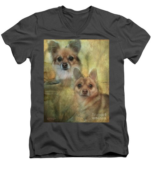 Harley Girl N Bear Men's V-Neck T-Shirt