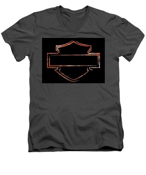 Men's V-Neck T-Shirt featuring the digital art Harley  by Jamie Lynn