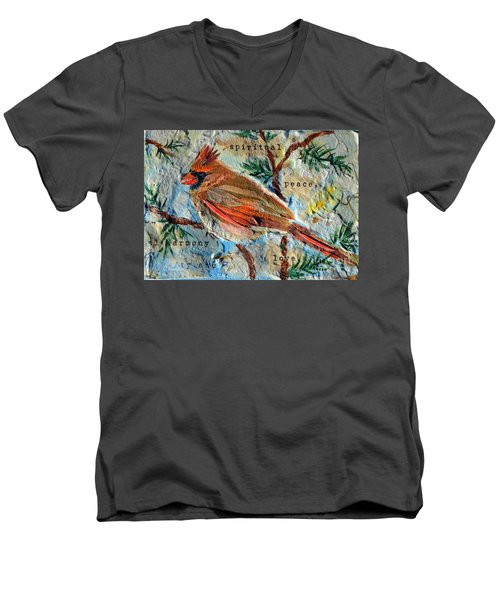 Harmony Men's V-Neck T-Shirt by Li Newton