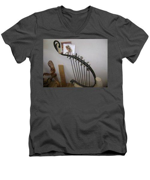 Harp Men's V-Neck T-Shirt