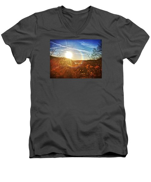 Harpers Ferry Sunset Men's V-Neck T-Shirt