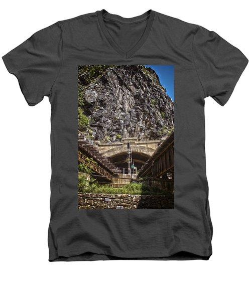 Harpers Ferry Tunnel Men's V-Neck T-Shirt