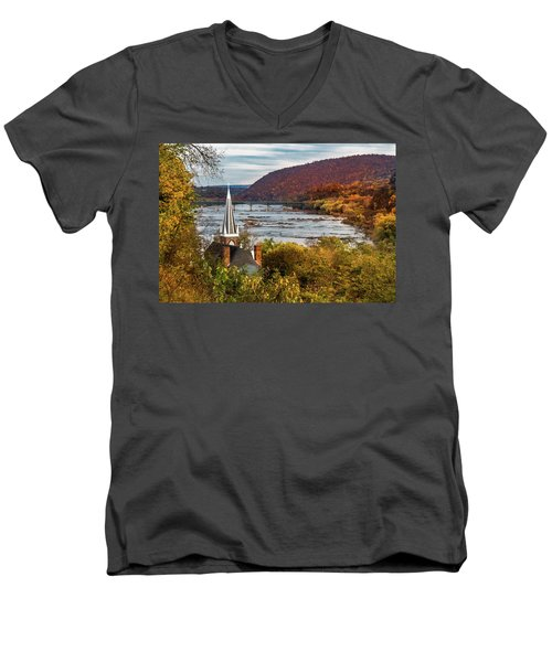 Harpers Ferry, West Virginia Men's V-Neck T-Shirt