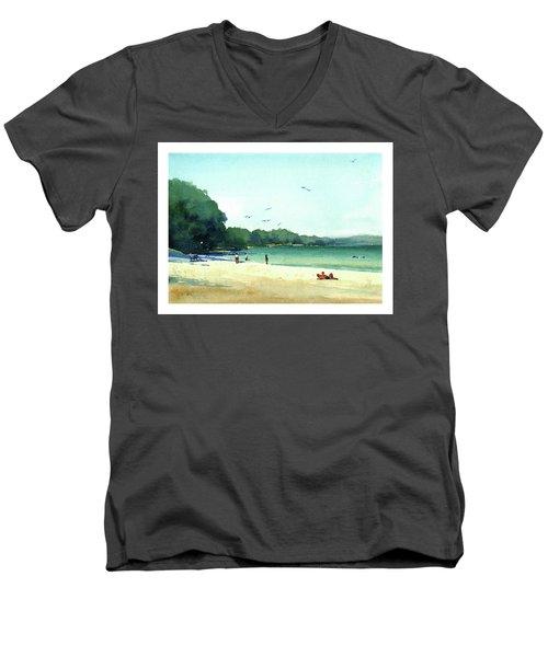 Harrington Beach, Wisconsin Men's V-Neck T-Shirt