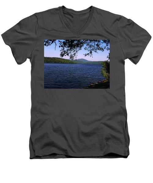 Harriman Men's V-Neck T-Shirt by GJ Blackman