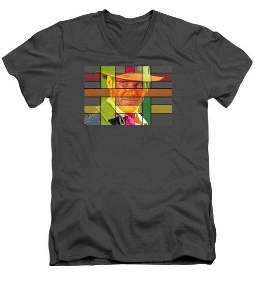 Harrison Ford Men's V-Neck T-Shirt by Manjot Singh Sachdeva